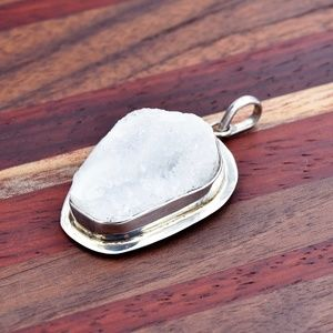 ‼️Clearance‼️925 Silver Druzy Pendant